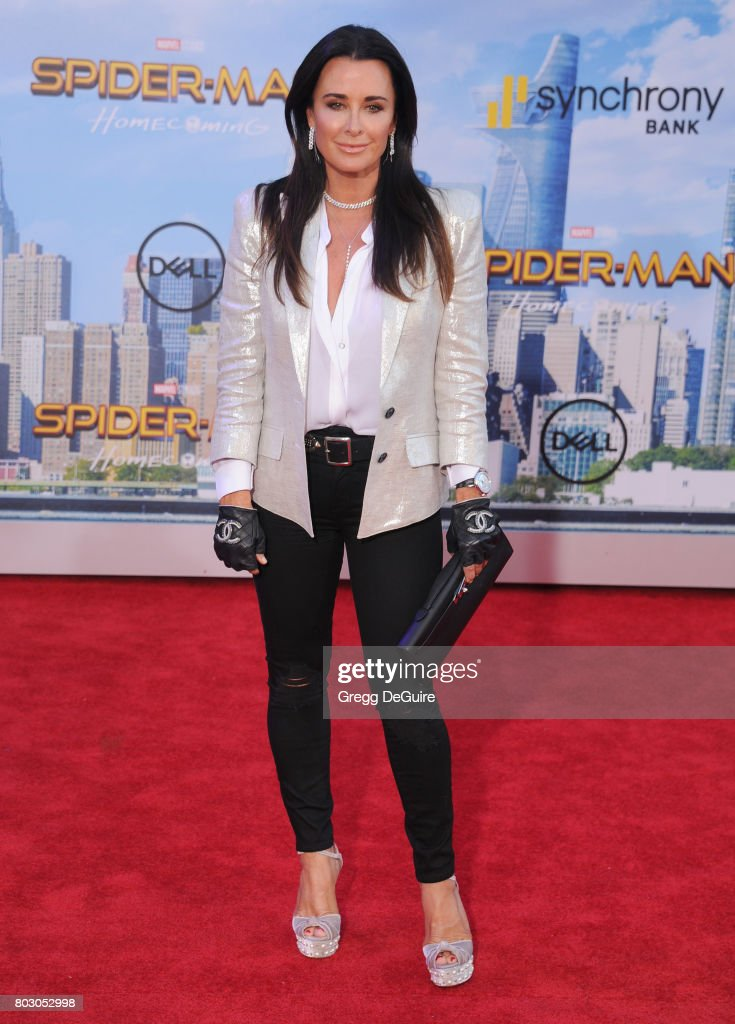 Kyle Richards arrives at the premiere of Columbia Pictures' 'Spider-Man: Homecoming' at TCL Chinese Theatre on June 28, 2017 in Hollywood, California.