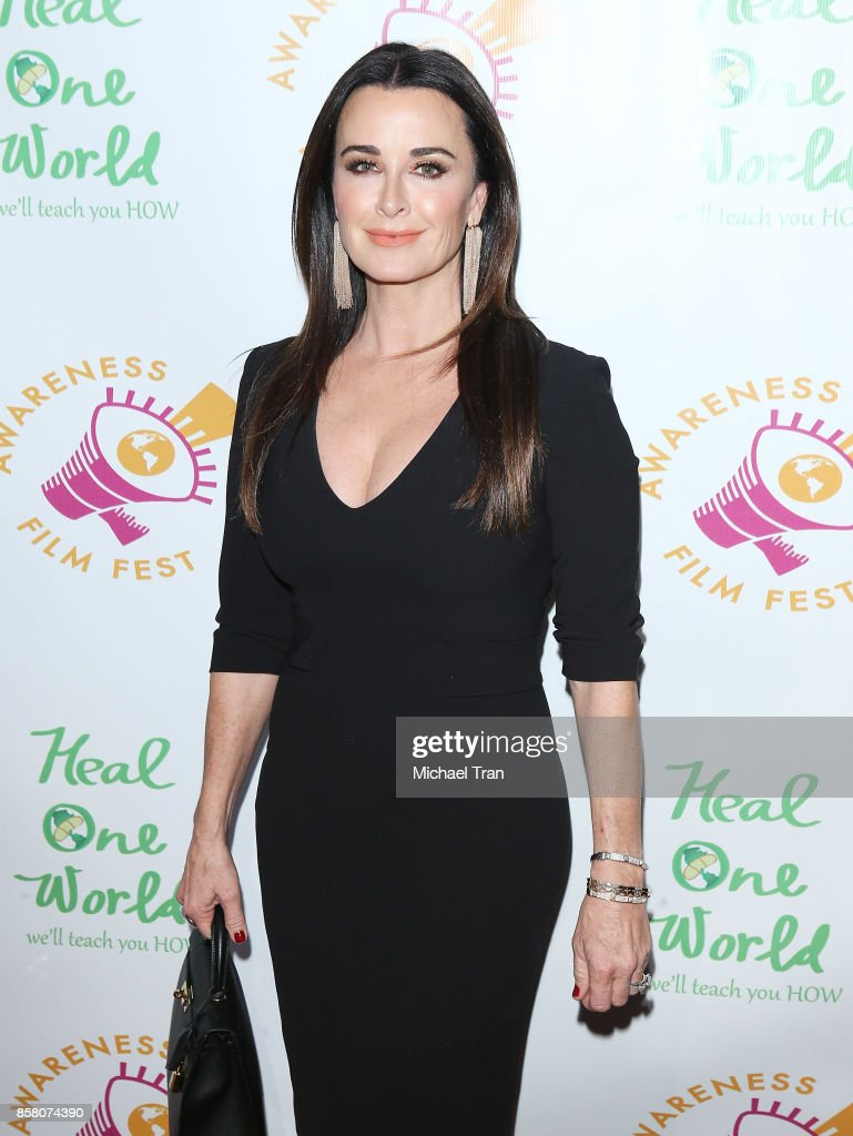 Kyle Richards arrives to the 2017 Awareness Film Festival Opening Night Premiere of 'The Road to Yulin and Beyond' at Regal LA Live Stadium 14 on October 5, 2017 in Los Angeles, California.