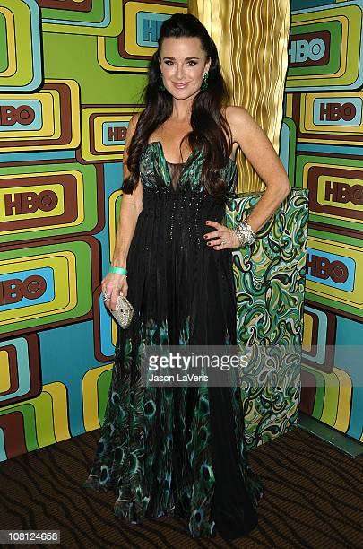 Kyle Richards attends HBO's 68th annual Golden Globe Awards Official after party at Circa 55 Restaurant on January 16 2011 in Los Angeles California