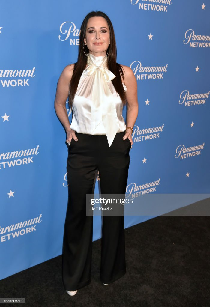 Kyle Richards attends Paramount Network launch party at Sunset Tower on January 18, 2018 in Los Angeles, California.