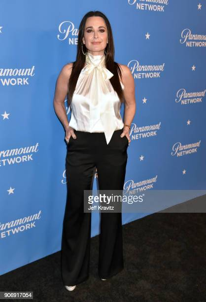 Kyle Richards attends Paramount Network launch party at Sunset Tower on January 18 2018 in Los Angeles California