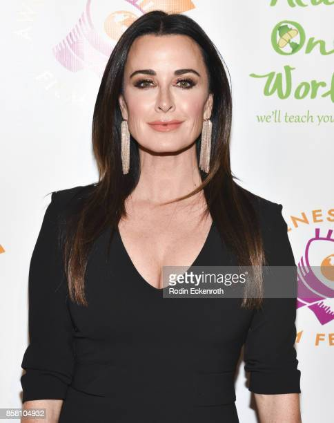 Kyle Richards attends the 2017 Awareness Film Festival Opening Night Premiere of 'The Road to Yulin and Beyond' at Regal LA Live Stadium 14 on...