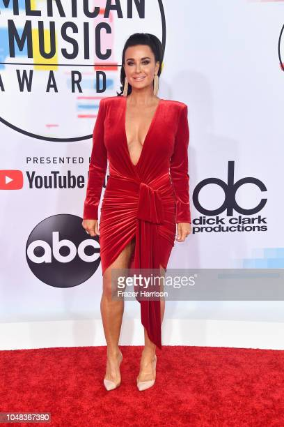 Kyle Richards attends the 2018 American Music Awards at Microsoft Theater on October 9 2018 in Los Angeles California