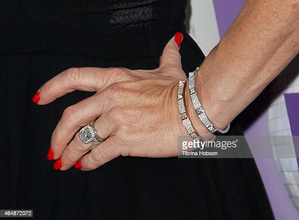 Kyle Richards attends the Family Equality Council's Los Angeles awards dinner at The Beverly Hilton Hotel on February 28 2015 in Beverly Hills...
