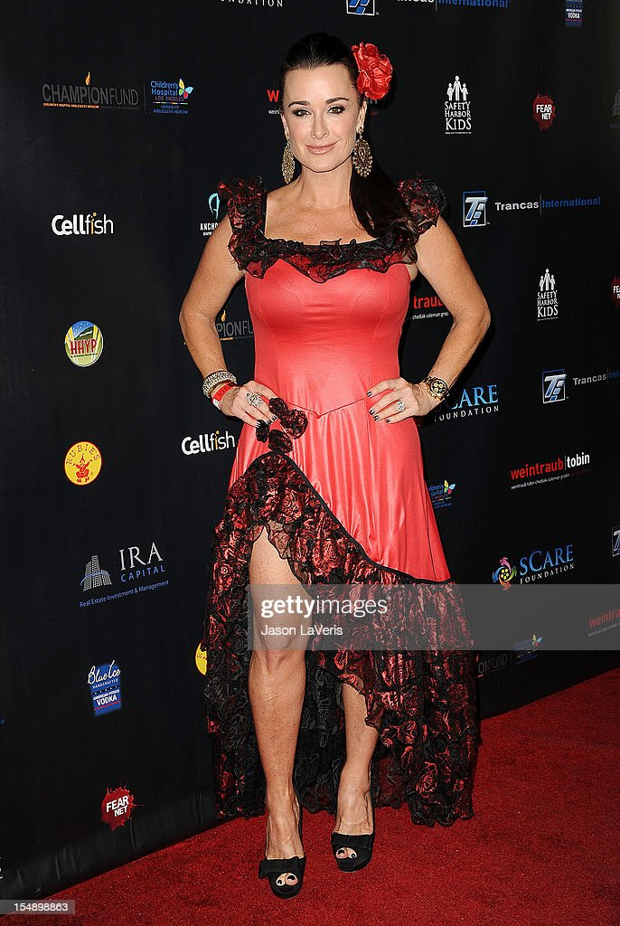 Kyle Richards attends the sCare Foundation's 2nd annual Halloween benefit event at The Conga Room at L.A. Live on October 28, 2012 in Los Angeles, California.