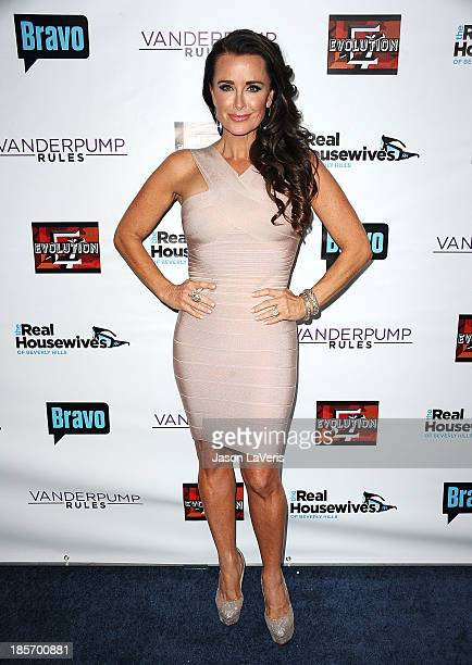 Kyle Richards attends the The Real Housewives of Beverly Hills and Vanderpump Rules premiere party at Boulevard3 on October 23 2013 in Hollywood...