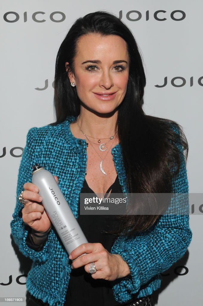Kyle Richards attends Turning Heads With Joico Hair Care At Colgate's Pre Golden Globe Beauty Bar at 901 Salon on January 12, 2013 in West Hollywood, California.