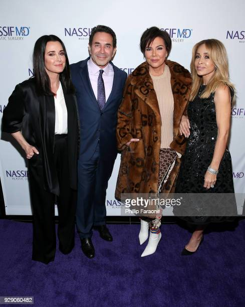 Kyle Richards Dr Paul Nassif Kris Jenner and Faye Resnick arrive for Dr Paul Nassif's unveiling of his new medical spa with grand opening and...