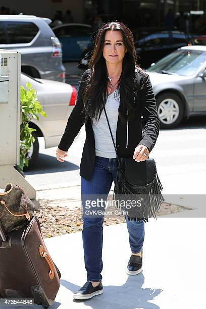 Kyle Richards is seen at LAX on May 15 2015 in Los Angeles California