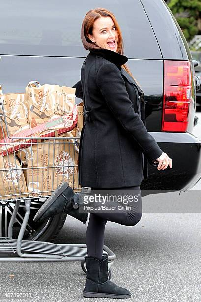 Kyle Richards is seen on February 06 2014 in Los Angeles California