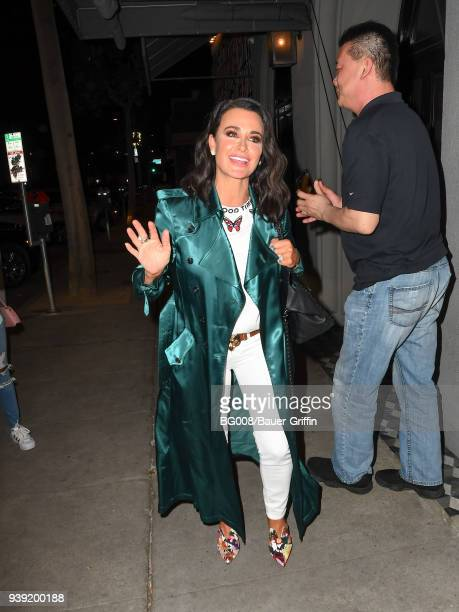 Kyle Richards is seen on March 27 2018 in Los Angeles California