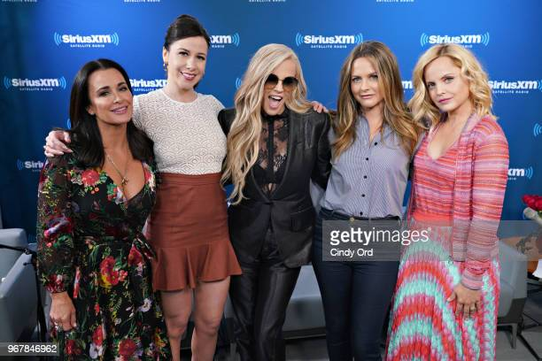 Kyle Richards Jennifer Bartels Jenny McCarthy Alicia Silverstone and Mena Suvari pose for a photo after taking part in Jenny McCarthy's 'Inner...