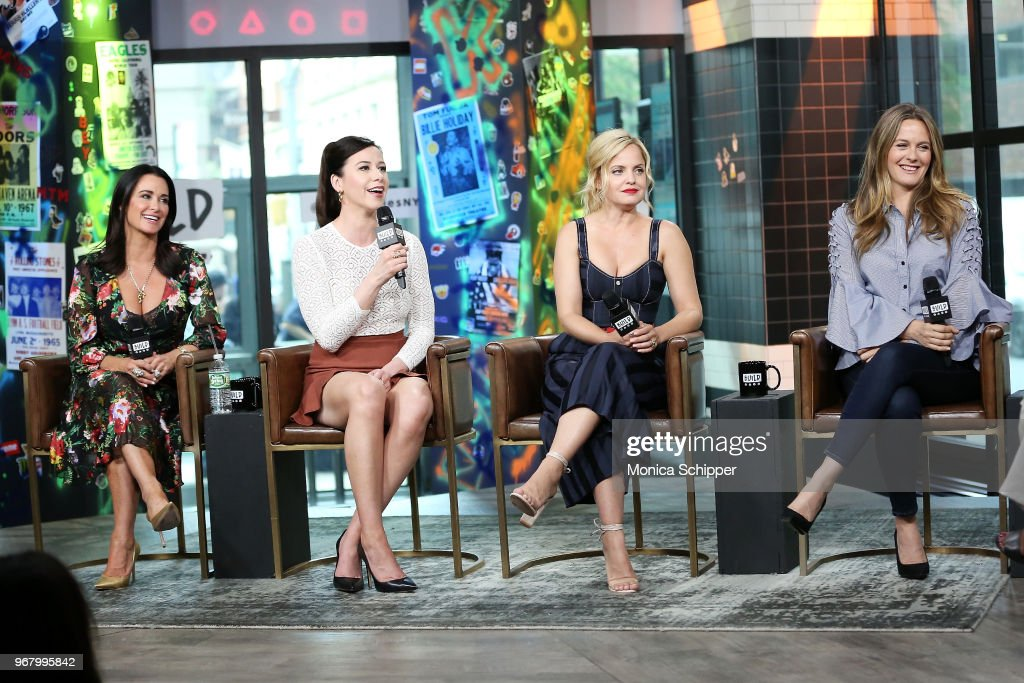 Kyle Richards, Jennifer Bartels, Mena Suvari and Alicia Silverstone visit Build Studio to discuss the television show 'American Woman' on June 5, 2018 in New York City.