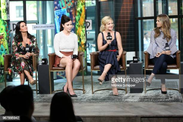Kyle Richards Jennifer Bartels Mena Suvari and Alicia Silverstone visit Build Studio to discuss the television show American Woman on June 5 2018 in...