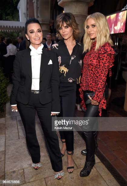 Kyle Richards Lisa Rinna and Dorit Kemsley attend the American Woman premiere party at Chateau Marmont on May 31 2018 in Los Angeles California