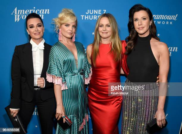 Kyle Richards Mena Suvari Alicia Silverstone and Jennifer Bartels attend the American Woman premiere party at Chateau Marmont on May 31 2018 in Los...