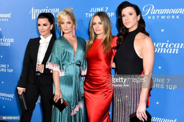 Kyle Richards Mena Suvari Alicia Silverstone Jennifer Bartels attend Premiere Of Paramount Network's American Woman Arrivals at Chateau Marmont on...