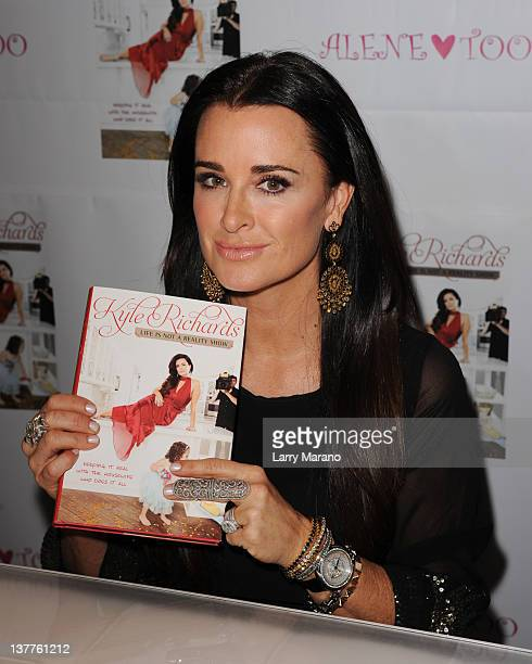 Kyle Richards of The Real Housewives of Beverly Hills greets fans and signs copies of her book Life Is Not A Reality Show Keeping It Real with the...
