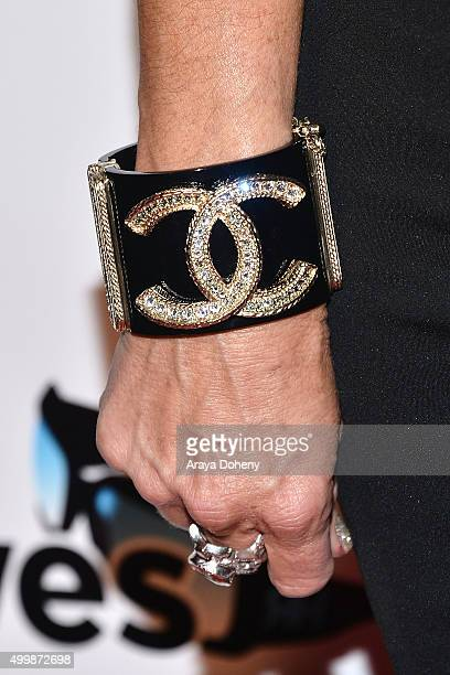 Kyle Richards ring and bracelet detail attends the premiere party for Bravo's The Real Housewives of Beverly Hills Season 6 at W Hollywood on...