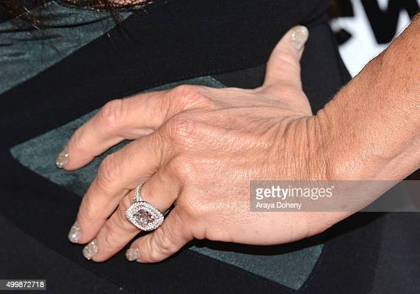 Kyle Richards Ring Detail Attends The Premiere Party For Bravo S Real Housewives Of Beverly