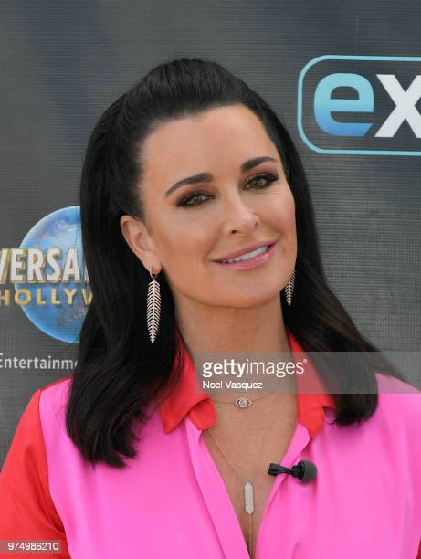Kyle Richards visits Extra at Universal Studios Hollywood on June 14 2018 in Universal City California