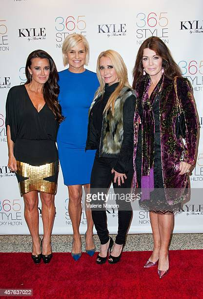 Kyle Richards Yolanda Foster Kim Richards and Lisa Vanderpump attend Nicky Hilton's 365 Style book party for the filming of The Real Housewives of...