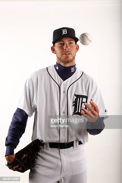Kyle Ryan of the Detroit Tigers poses for a photo during the Tigers' photo day on February 28 2015 at Joker Marchant Stadium in Lakeland Florida