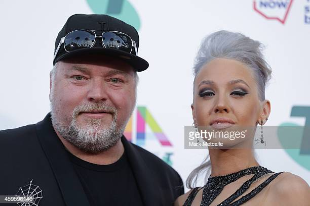 Kyle Sandilands and Imogen Anthony arrive at the 28th Annual ARIA Awards 2014 at the Star on November 26 2014 in Sydney Australia