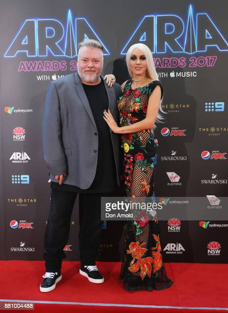 Kyle Sandilands and Imogen Anthony arrive for the 31st Annual ARIA Awards 2017 at The Star on November 28 2017 in Sydney Australia