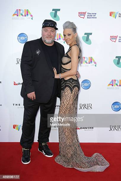 Kyle Sandilands and Imogen Anthony arrives at the 28th Annual ARIA Awards 2014 at the Star on November 26 2014 in Sydney Australia