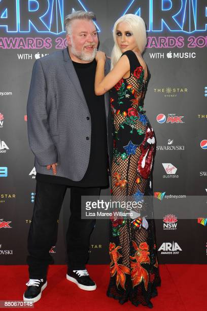 Kyle Sandilands and Imogen Anthony arrives for the 31st Annual ARIA Awards 2017 at The Star on November 28 2017 in Sydney Australia