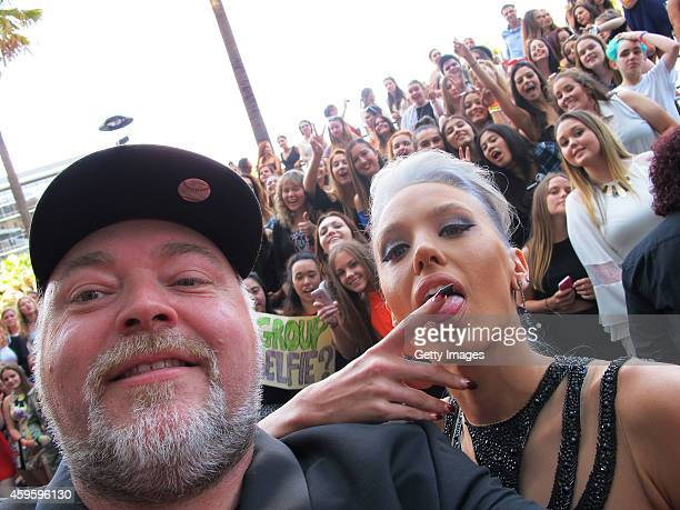 Kyle Sandilands and Imogen Anthony take a selfie at the 28th Annual ARIA Awards 2014 at the Star on November 26 2014 in Sydney Australia