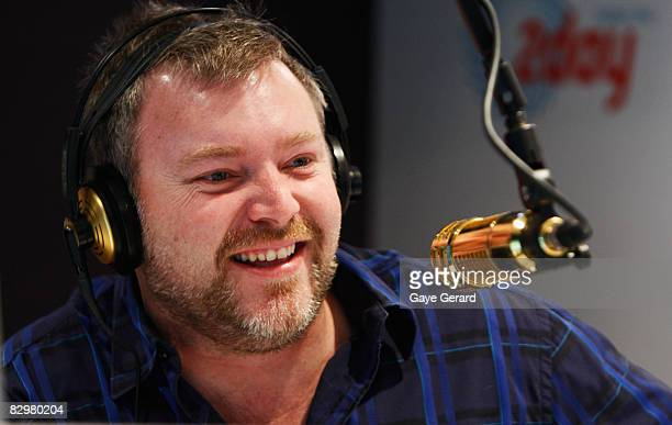 Kyle Sandilands appears on the 2Day FM Kyle and Jackie O Breakfast show at World Square on September 24 2008 in Sydney Australia