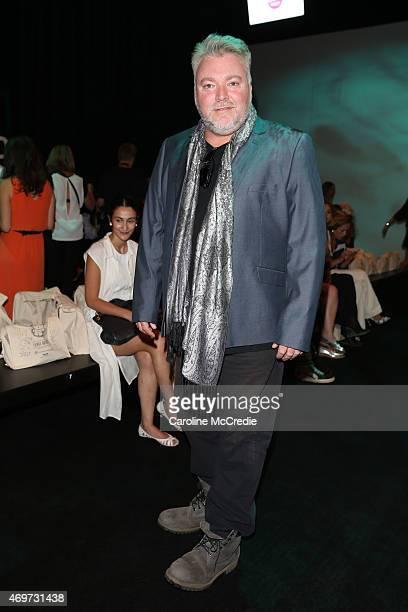 Kyle Sandilands attends the Bondi Bather show at MercedesBenz Fashion Week Australia 2015 at Carriageworks on April 15 2015 in Sydney Australia