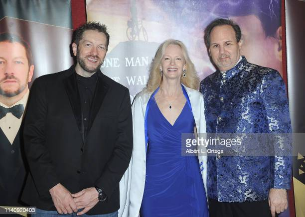 Kyle Saylords Kim Holland and Kevin Foster attend the Premiere Of Against The Wall held at Laemmle Monica Film Center on May 2 2019 in Santa Monica...
