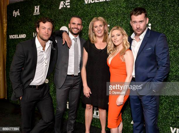 Kyle Schmid Juan Pablo Raba Katheryn Winnick President and Chief Executive Officer AE Networks Nancy Dubuc and Barry Sloane attend the 2017 AE...