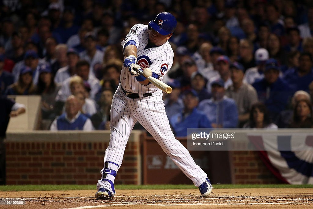 League Championship Series - New York Mets v Chicago Cubs - Game Three : News Photo