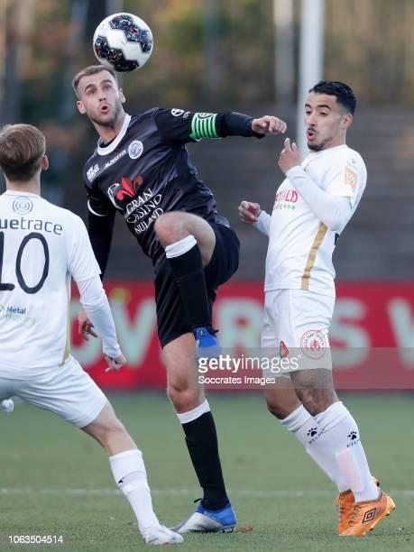 Kyle Scott of Telstar Danny Verbeek of FC Den Bosch Anass Najah of Telstar during the Dutch Keuken Kampioen Divisie match between Telstar v FC Den...