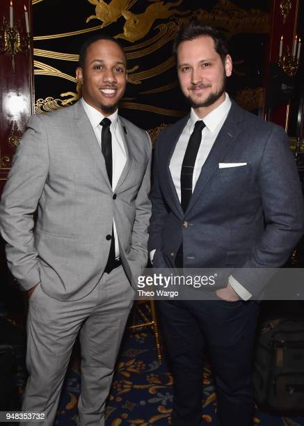 Kyle Sheppard and Matt McGorry attend the Biden Courage Awards Presented by It's On Us at the Russian Tea Room on April 18, 2018 in New York City.