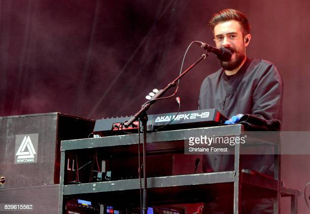 Kyle Simmons of Bastille performs at Leeds Festival at Bramhall Park on August 26 2017 in Leeds England