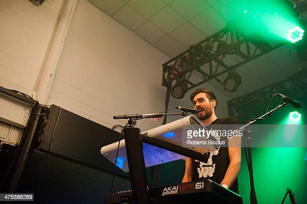 Kyle Simmons of Bastille performs on stage at The Corn Exchange on February 27, 2014 in Edinburgh, United Kingdom.