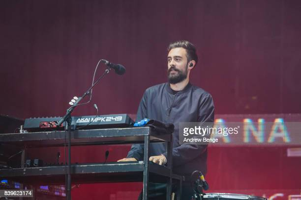 Kyle Simmons of Bastille performs on the main stage during day 2 at Leeds Festival at Bramhall Park on August 26 2017 in Leeds England