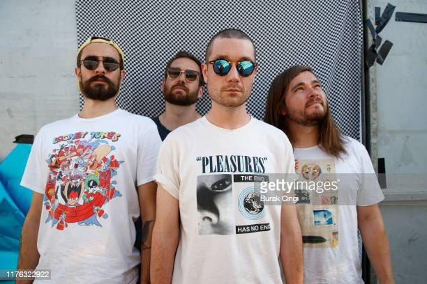 Kyle Simmons Will Farquarson Dan Smith and Chris Woody Wood of Bastille on day three of Reading Festival 2019 at Richfield Avenue on August 25 2019...