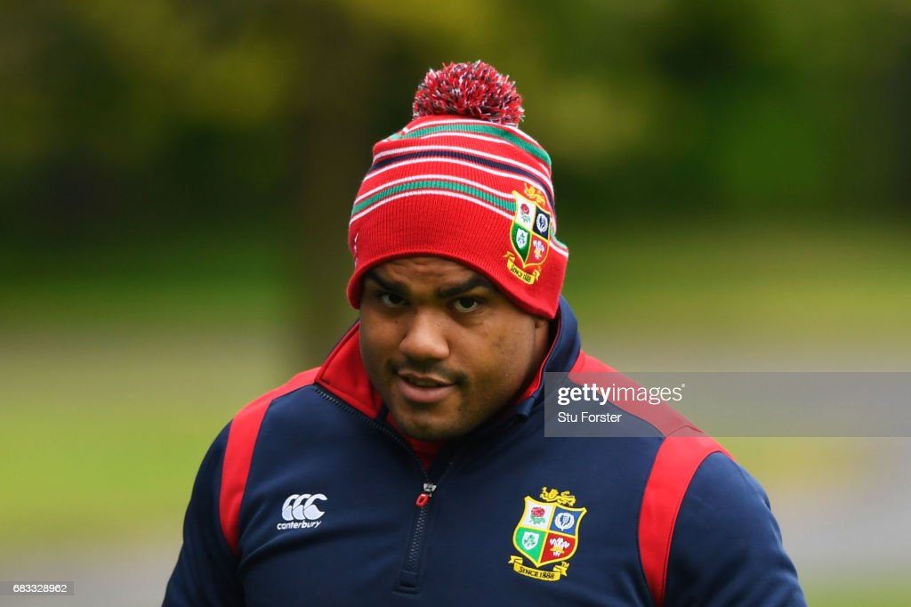 Kyle Sinckler looks on during a British and Irish Lions training session at Vale of Glamorgan on May 15, 2017 in Cardiff, Wales.