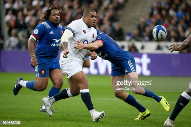 Kyle Sinckler of England during the NatWest 6 Nations Crunch match between France and England at Stade de France on March 10 2018 in SaintDenis near...