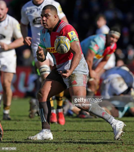 Kyle Sinckler of Harlequins during the Aviva Premiership match between Harlequins and Wasps at Twickenham Stoop on February 11 2018 in London England