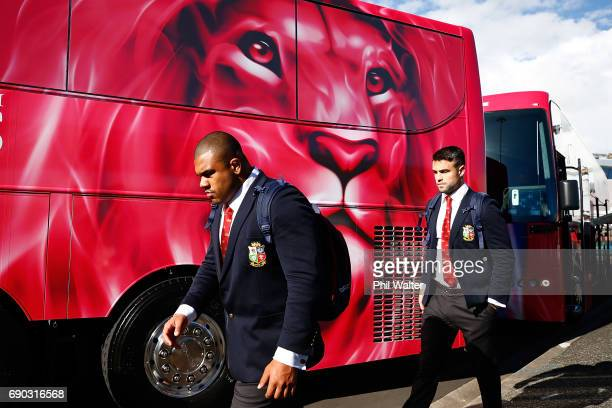 Kyle Sinckler of the British Irish Lions arrives at Auckland International Airport on May 31 2017 in Auckland New Zealand
