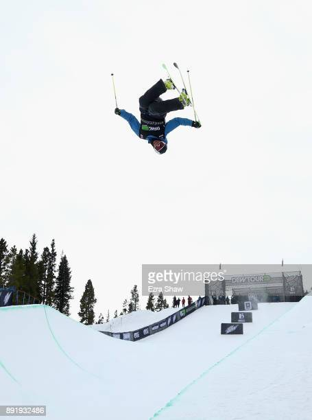 Kyle Smaine competes in the Superpipe qualification during Day 1 of the Dew Tour on December 13 2017 in Breckenridge Colorado