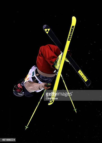 Kyle Smaine of USA competes in the Men's Ski Halfpipe Finals during the FIS Freestyle Ski and Snowboard World Championships 2015 on January 22 2015...