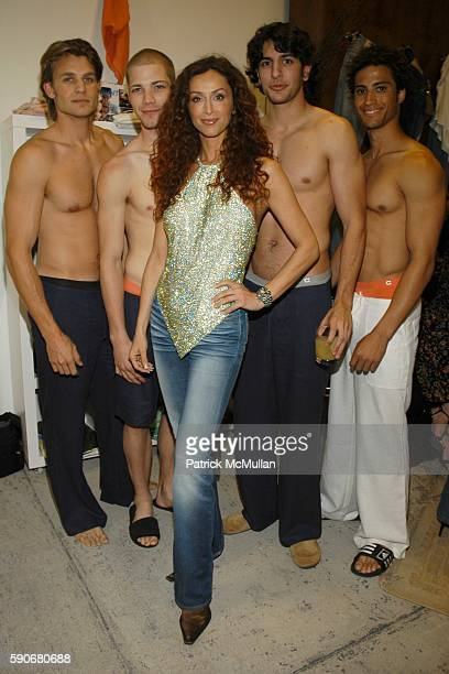 Kyle Sofia Milos and Models attend Gran Centenario hosts the J Ransom instore event for adam eve at J Ransom Boutique on March 18 2005 in Los Angeles...